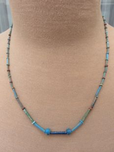 Egyptian necklace with faience beads - 50 cm