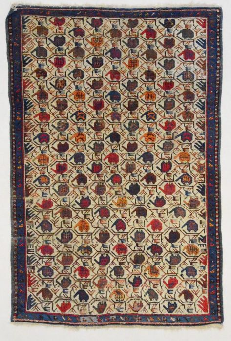 Antique Caucasian carpet (only natural colours), 180 x 115 cm