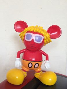 """360 Toy Group - Keith Haring Andy Mouse Red Ver 6"""""""