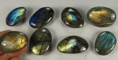 Labradorite big lot - intensive labradorescence - full polished - 272gm (8)