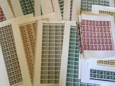 Former Spanish Colonies 1955/1960 – Lot of complete series in sheets.