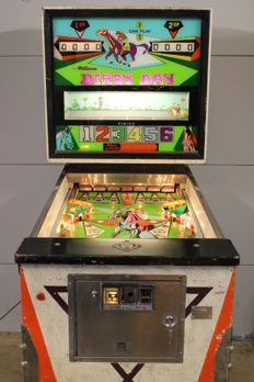 WILLIAMS DERBY DAY Pinball machine with backglass animation