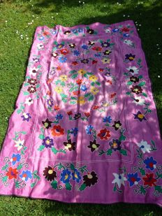 Tablecloth suzani cotton embroidered by hand
