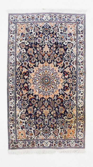 Gorgeous Persian Nain carpet with silk, 200 x 116 cm