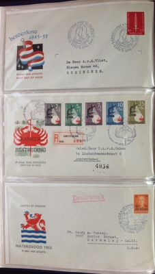 Netherlands 1954/1980 – Collection of FDCs in albums and loose