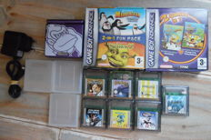 Nintendo Gameboy Advance SP Donkey Kong (new shell) incl 9 games and charger