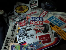 More then 100 original stickers and other stickers Veedol and so on