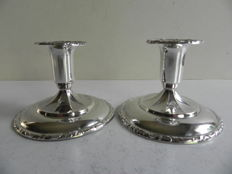 Set of silver candle stands, imported in Sweden