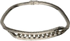 18 kt white gold bracelet with snake link, set with 10 brilliant cut diamonds, 0.70 ct in total – Length 19 cm