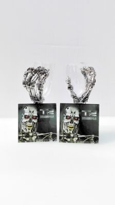 Terminator 2 - Judgement Day - 20th anniversary item - set of 2  Hand Goblets with glass coasters - T-800 - height 20 cm