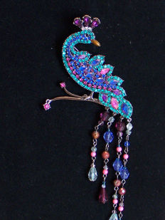 Avon Hostess vintage gift peacock brooch collector item