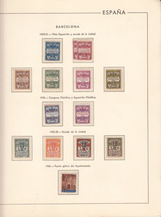 Barcelona 1929–1945 – collection of stamps and block sheets in album