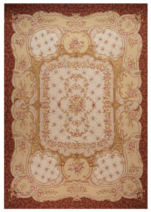 Exceptional needlepoint (measures 420 x 290 cm) – Floral design, Aunsson, very elegant – 100% hand-crafted – 1970s-1980s – (Farah Gallery, 1970).