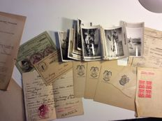 Souvenir documents and photos from a soldier belonging to the 8th Regiment of Cuirassiers in Tunisia, 1948.
