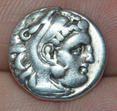 Greek Antiquity - Macedonia. Antigonos I Monophthalmos. As Strategos of Asia, 320-306/5 BC, or king, 306/5-301 BC. AR Drachm In the name of Alexander III. Lampsakos mint