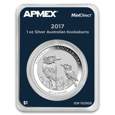 Australia - 1 AUD - 1 oz 999 Silver Coin MintDirect Certified Quality - 1 oz Kookaburra 2017