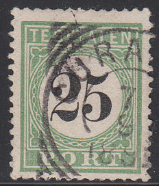 Curaçao 1889 – Postage number in black – NVPH P7 type II, with inspection certificate