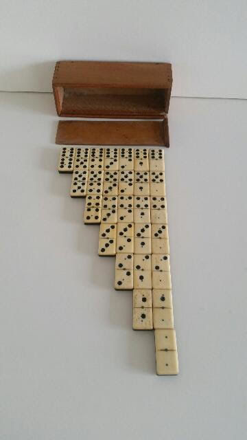 Antique Domino game in matching box