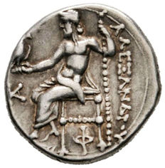 Greek Antiquity – Kings of Macedon. Alexander III. The Great. Silver Drachma. Kolophon mint.  Struck under Antigonos I Monophthalmos, circa 310-301 BC.