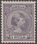 Regardez Netherlands 1891 - Princess Wilhelmina 'Hanging hair', with plate flaw - NVPH 44, with inspection certificate