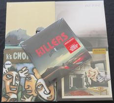 The Killers (RED vinyl!) / Beady Eye / Charlatans / K's Choice / Cold Specks: Great POP lot consisting of 4 albums (8LP's) + 1x 12inch EP, including limited COLOURED vinyl