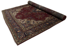 Authentic original Persian rug – hand-knotted TABRIZ (Persia/Iran) – 380 x 270 cm – period: 1940-1950 – with certificate of authenticity from official appraisal expert – GalleriaFarah1970 – Ref. 94703