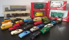 Wiking/Herpa/EFSI e.a H0- 34 auto's, bussen en vrachtauto's