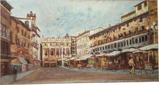 Unknown artist - Piazza Erbe Verona