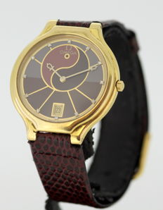 Omega Ying & Yang - 18K Yellow Gold Quartz Wristwatch With Diamonds, ca.1970