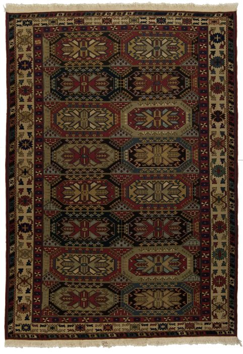 Authentic and Original SUMAK (Sumakh) Oriental Rug from Tibet, with Certificate of Authenticity from an official appraisal expert (dimensions: 250 cm x 173 cm) – (Galleria Farah 1970) 93508