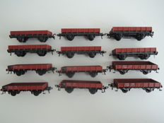 Fleischmann H0 - 12 low sided boxcars