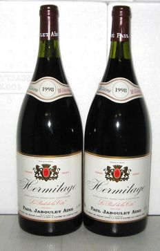 "1998 Hermitage ""Le Pied de la Côte"", Paul Jaboulet Ainé – Lot of 2 Magnums 1,5 L."