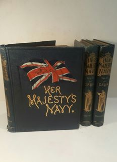 Charles Rathbone Low - Her Majesty's Navy - 3 volumes - 1890