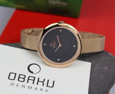 Obaku – Ladies' –  Rose Gold Plated Designer Wristwatch - Unworn