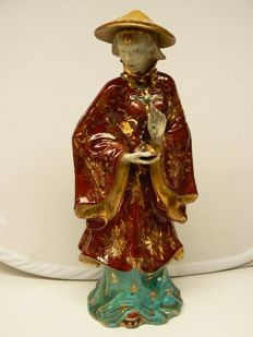 Prof. Eugenio Pattarino - Nice large sculpture of a Chinese lady
