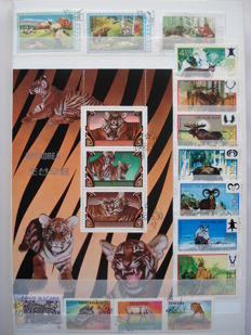 Theme – Fauna, animals and prehistoric animals, over 1400 stamps and 20 blocks