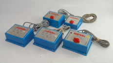 Märklin H0 - 6611/6631/37540 - 5 plastic light- / control transformers 10VA/30VA/40VA for  control of the model track