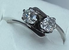 'You and Me' diamond ring, approx. 0.80 ct – Size approx. 18 – NO RESERVE
