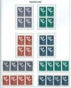 The Netherlands 1936/1937 - Children's stamps - NVPH 289/292 and 300/304 in blocks of four and strips of four