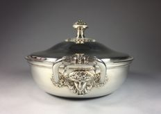 Silver plated covered dish, Christofle Malmaison, possibly Gallia, France, second half 20th century