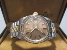 Rare Rolex Datejust - Special Desert Dial - steel and gold - ref. 16013 - Vintage, men's model