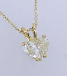 Pendant with heart-shaped diamond of 0.52 ct ***no reserve***