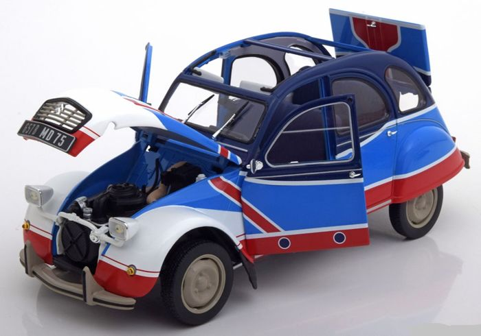 Norev - Scale 1/18 - Citroen 2 CV Basket 1976 - Blue / Red / White