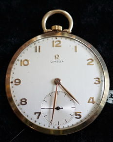 Solid golden Omega -- tailcoat watch - circa 1945