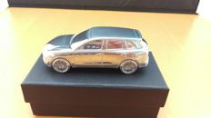 Porsche Cayenne Turbo GII 2010- solid aluminium Paperweight in luxury gift packaging - scale 1/43