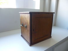 Wooden apothecary cabinet