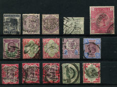 Great Britain, 1880s, Queen Victoria - selection of company perforations.