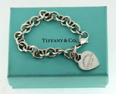 "Tiffany & Co. - ""Return to Tiffany"" Sterling silver ladies bracelet, London 2008 - Length : 18 cm"