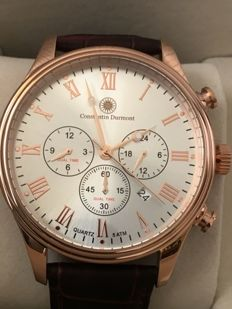 Constantin Durmont *Ashford* –  Men's quartz analogue watch with leather strap – Never worn