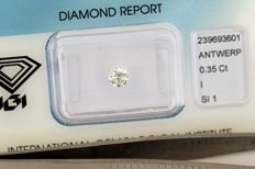 Brilliant cut diamond, 0.35 ct – I SI1